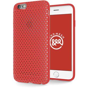 AndMesh ochranný kryt pro Apple iPhone 6/6s, červený