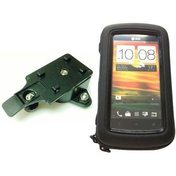 """Voděodolný držák na motorku na mobilní telefon do 4,8"""" s adaptérem pro RAM"""