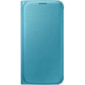 Samsung flipové pouzdro s kapsou EF-WG920PL pro Galaxy S6, imitace kůže, modrá