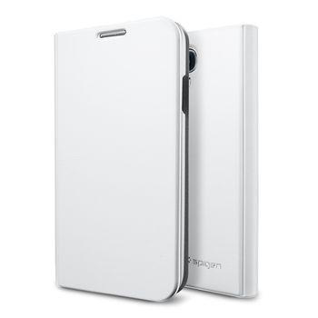 Spigen flipové pouzdro Slim Wallet pro Galaxy S4, bílá