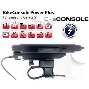 Držák BikeConsole Powerplus pro Samsung Galaxy S III se záložním akumulátorem 2800mAh + Smartmaps cykloturisticky atlas 1:40tis