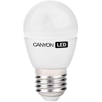 Canyon LED žárovka, (ekv. 25W) E27, kompakt kulatá, mléčná 3.3W, 250 lm, teplá bílá 2700K