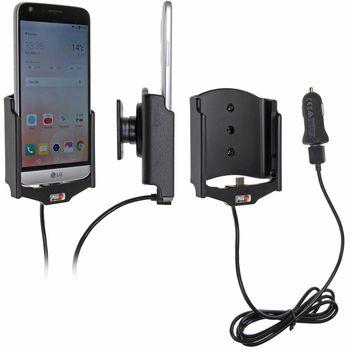 Brodit držák do auta na LG G5 bez pouzdra, s nabíjením z cig. zapalovače/USB