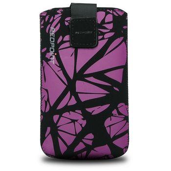 Fixed pouzdro Velvet s motivem Purple Cracks, velikost 4XL, fialová