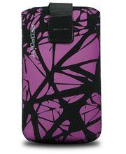 Fixed pouzdro Velvet s motivem Purple Cracks, velikost XL, fialová