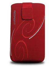 Fixed pouzdro Velvet s motivem Red Spirals, velikost 3XL, červená
