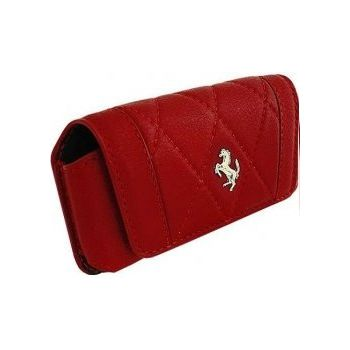 Ferrari Maranello kožené pouzdro horizontální, velikost M, červené