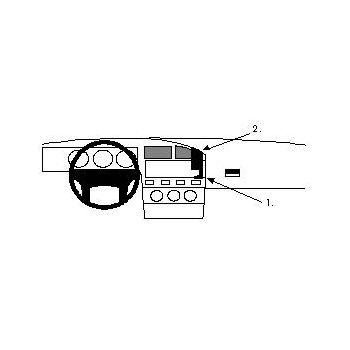 Brodit ProClip montážní konzole pro VW Passat 88-93, na střed
