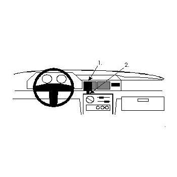 Brodit ProClip montážní konzole pro Ford Fiesta 89-95, na střed