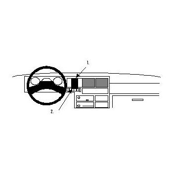 Brodit ProClip montážní konzole pro Volkswagen Caravelle 91-95/T4 Transporter/Pickup 91-95, na střed