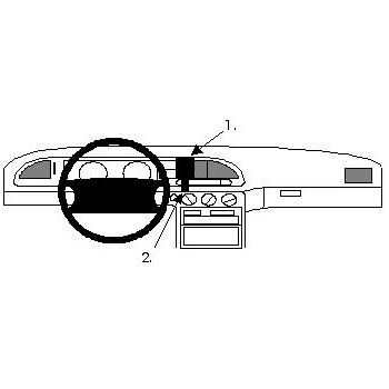 Brodit ProClip montážní konzole pro Ford Mondeo 93-96, na střed vlevo