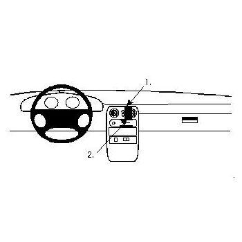 Brodit ProClip montážní konzole pro Mazda Miata 89-93/MX 5 89-93, na střed