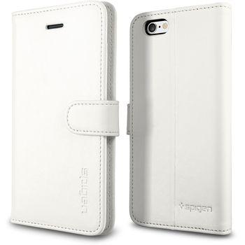 Spigen flipové pouzdro Wallet S pro iPhone 6, bílá