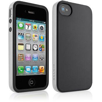 Belkin pouzdro Apple iPhone 4/4S Grip candy, černá (F8Z814cwC01) - rozbaleno, plná záruka