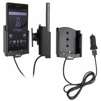 Brodit držák do auta na Sony Xperia Z5 compact bez pouzdra, s nabíjením z cig. zapalovače/USB
