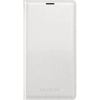 Samsung flipové pouzdro s kapsou EF-WG900BW pro S5 (G900), bílé, rozbaleno