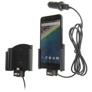Brodit držák do auta na LG Nexus 5X bez pouzdra, s nabíjením z cig. zapalovače/USB