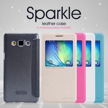 Nillkin flipové pouzdro Sparkle S-View pro Samsung Galaxy A5, bílá
