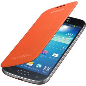 Samsung flipové pouzdro EF-FI919BO pro Galaxy S4 mini, oranžová