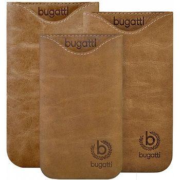 Bugatti Skinny Universal leather case SL (133 x 77mm) - světle hnědé