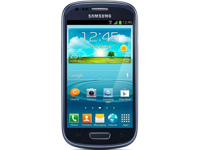 obsah balení Samsung I8190 GALAXY S III mini modrá