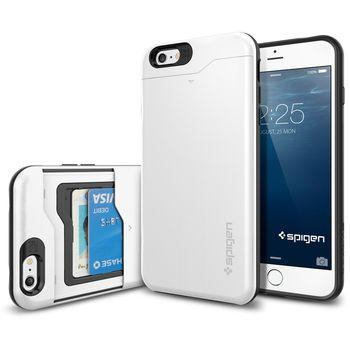 Spigen pevné pouzdro Slim Armor CS s přihrádkou na karty pro Apple iPhone 6 Plus, bílá