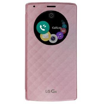 LG flipové pouzdro QuickCircle CFV-100 pro LG G4, růžový
