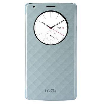 LG vyměnný kryt s flipem a bezdr nabíjením QuickCircle CFR-100 pro LG G4, modrý