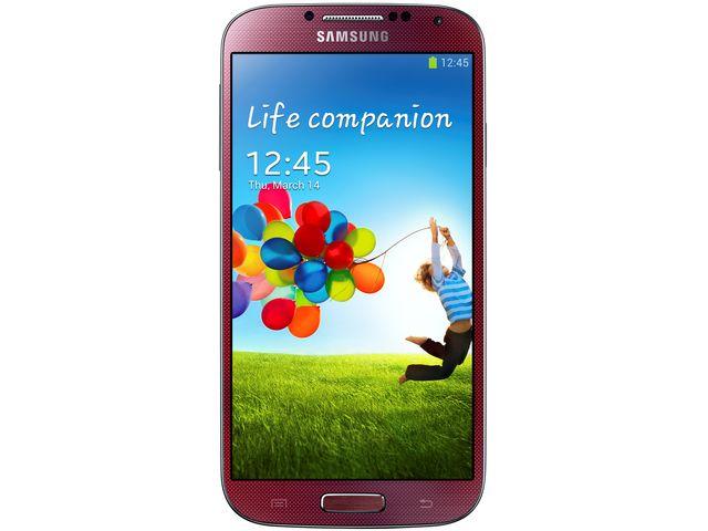 obsah balení Samsung GALAXY S4 i9505 Red + červený bezdrátový stereo reproduktor