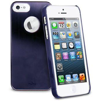 PURO pouzdro Metal Cover pro Apple iPhone 5 - modrá