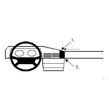 Brodit ProClip montážní konzole pro Mercedes Benz 103 (190/190E) 84-92, na střed