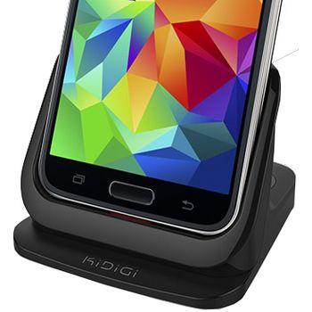 Kidigi dob. a synch. kolébka pro Samsung Galaxy S5 se slotem pro druhou baterii, černá
